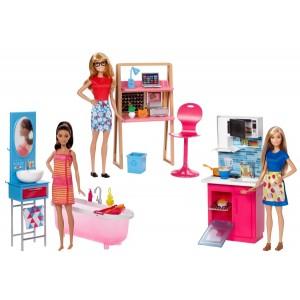 Barbie™ nukk ja kodumööbel