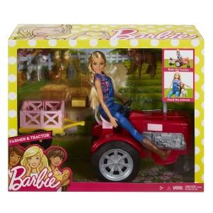 Barbie nukk ja traktor