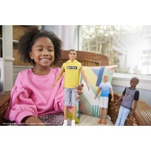Barbie Fashionistas Ken kollase dressipluusiga