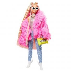 Barbie® Extra koheva roosa kasukaga