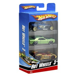 Hot Wheels autod 3-pakk
