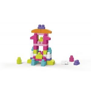 Mega Bloks 60-osaline Roosa klotsikott
