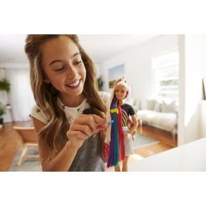 Barbie sätendavate vikerkaarevärviliste juustega nukk