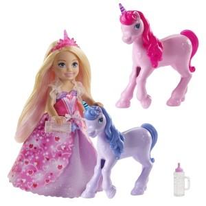 Barbie Chelsea Dreamtopia Printsessi ja beebiükssarviku komplekt