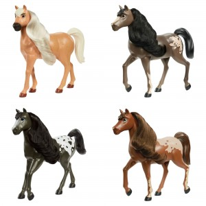 Spirit Herd liikuva peaga hobused